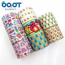 OOOT BAORJCT 1781710 , 38MM cartoon fruit Printed grosgrain ribbon,Clothing accessories jewelry,DIY Handmade gift wrapping