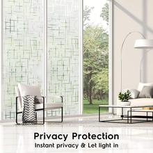 Multiple Sizes Available PVC Static Cling Self-adhesive Glass Film,Embossed Frosted Opaque Home Decor Window Cover Stickers