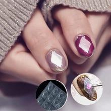 купить 4 Styles Transparent Nail Gemstone Stencil Guides Mould 3D DIY Hollow Plastic Nail Art Gem Mold Sticker Manicure Nail Tips онлайн