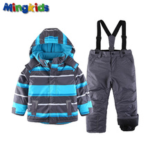 Snowsuit toddler Boy Ski set Outdoor Winter Warm  waterproof windproof padded European Size