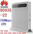 Desbloqueado huawei b593s-22 4g lte 4g router wi-fi 4g lte wi-fi dongle slot para cartão sim roteador b593 lte de 150 mbps roteador wi-fi pk e5172 b880 b890