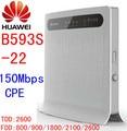 Desbloqueado huawei b593s-22 4g lte 4g router wifi 4g lte wifi dongle ranura para tarjeta sim b593 150 mbps lte wifi router pk e5172 b880 b890
