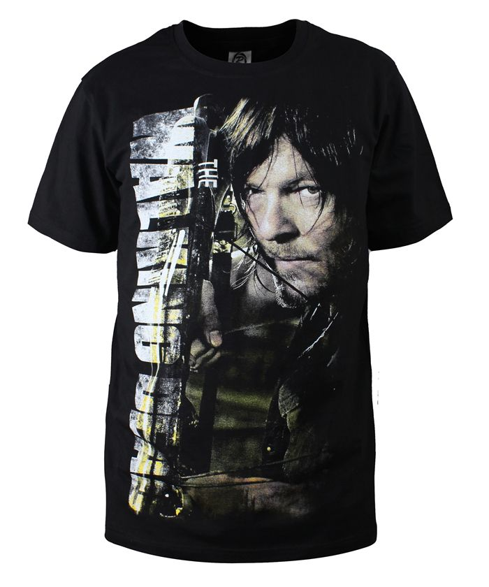 Fashion Men   T     Shirts   The Walking Dead New Daryl Dixon   T  -  Shirt   Cotton O Neck Top Tees Cotton Camisetas Summer