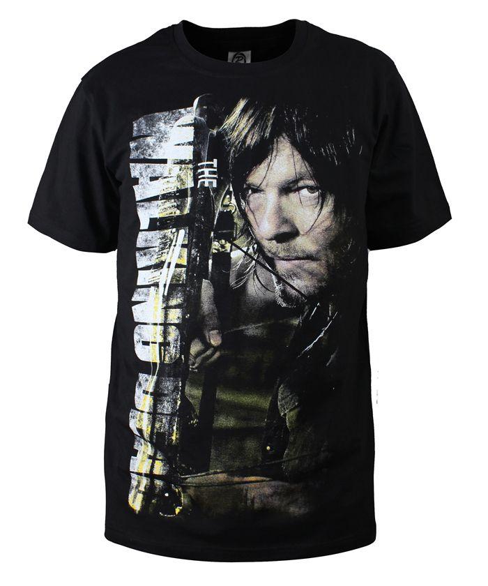907729e24a3708 Moda Mężczyzna T Koszula The Walking Dead Nowy Daryl Dixon T-Shirt Bawełna  O Neck Top Tees Cotton Koszulki Lato