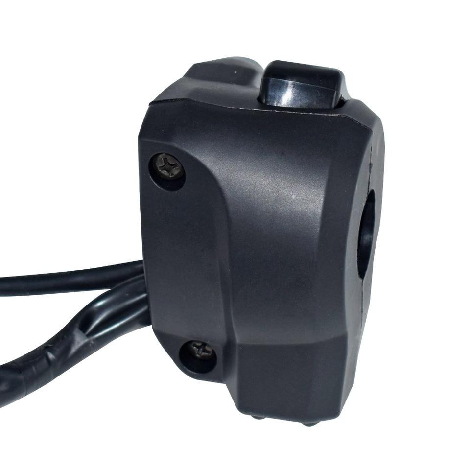 Control del interruptor del manillar-1 par Universal 22 mm Manillar de la motocicleta Faro del faro Se/ñal de giro Interruptor de bocina Control de engranajes