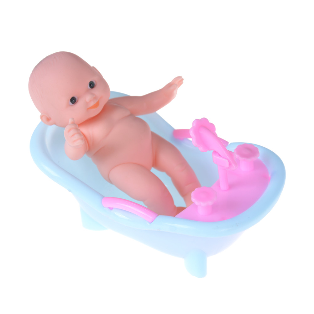 Cute Baby Bathroom Bathtub with Bath Set for Barbie Baby Bath Tub ...