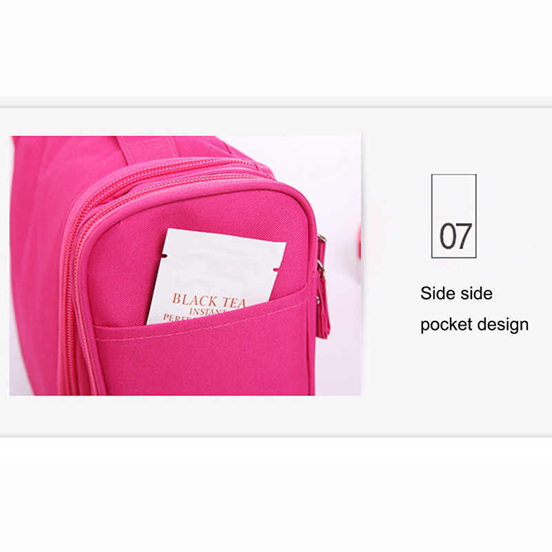 ホット販売女性化粧品袋ダブルジッパーブラシオーガナイザートイレタリーバッグケーストラベルメイクバッグハングフック