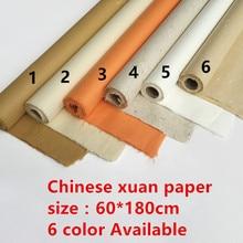 Рисовая бумага xuan для китайской живописи, наполовину НЕОБРАБОТАННАЯ рисовая бумага, 6 футов, Высококачественная картина ручной работы для создания кожи, цитрат 180*60 см