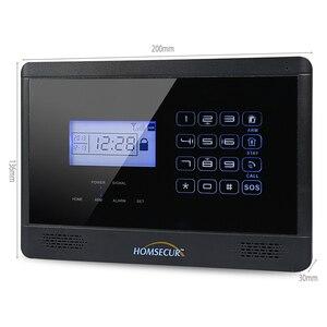 Image 2 - HOMSECUR YA09 (Espanol/Deutsch/Francais/İngilizce Ses) ev Güvenlik Kablosuz GSM Autodial Hırsız Hırsız Alarm Sistemi YA09