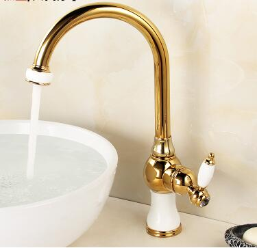 Kitchen faucet Rose gold Copper water tap cold and hot Sink faucet Vegetable washing basin sink mixer 360 degree rotating faucet new arrival tall bathroom sink faucet mixer cold and hot kitchen tap single hole water tap kitchen faucet torneira cozinha