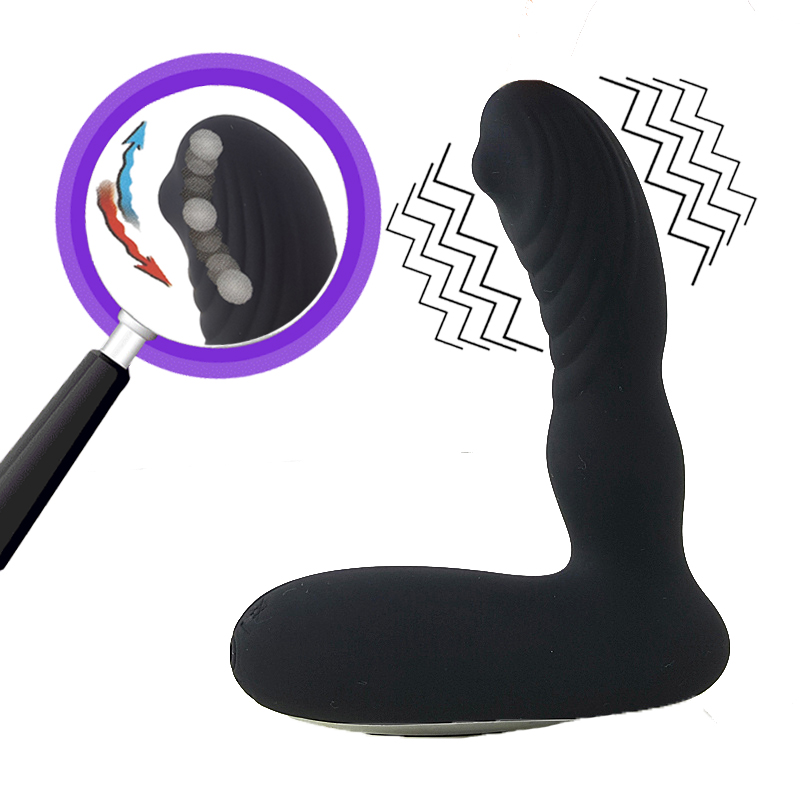 New 12 Speeds Prostate Massager for Men + 3 Speeds Tickling Prostata Massage Anal Vibrator Sex Toys for Men Butt Plug prettylove new 12 speeds prostate massager for men 3 speeds tickling prostata massage anal vibrator sex toys for men butt plug
