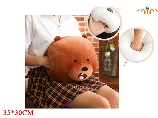 Giancomics Hot K-POP We Bare Bears Winter Necessary Hands Warmer Puppy Pillow Cushion Home Furnishings Cover Gifts