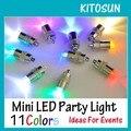 Impermeável Luzes LED Mini Partido Para Lanternas Balões Mini Luzes Led Para Floral Peça Central Do Casamento KIT Eiffel de Vidro Vasos