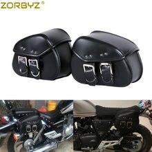 Nuevo Mini Durable negro Moto de la motocicleta de cuero de la PU de la  motocicleta alforjas bolsas bolsa para Mini Harley Moto 412650d607d7