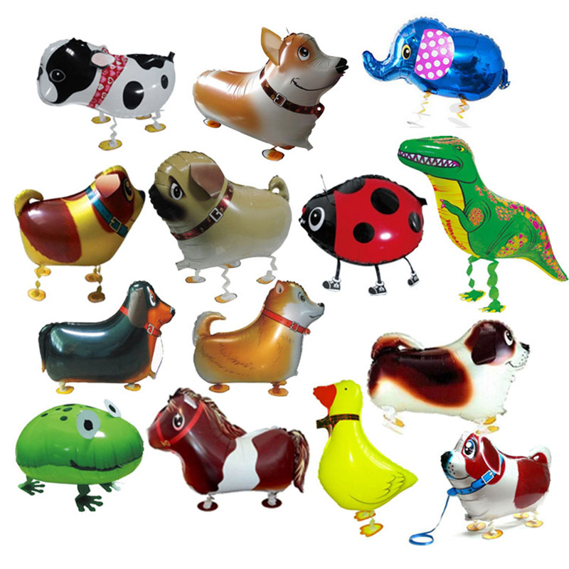 Walking Animal HELIUM Balloons Happy Birthday Decoration Party Pet Balls Cute Dog Panda Dinosaur Balloon kids and Adult in Ballons Accessories from Home Garden
