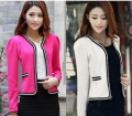 New Women coat Spring Slim Top Elegant Double Breasted Short Design Plus Size Suit Female Suit & Women Work Wear free shipping