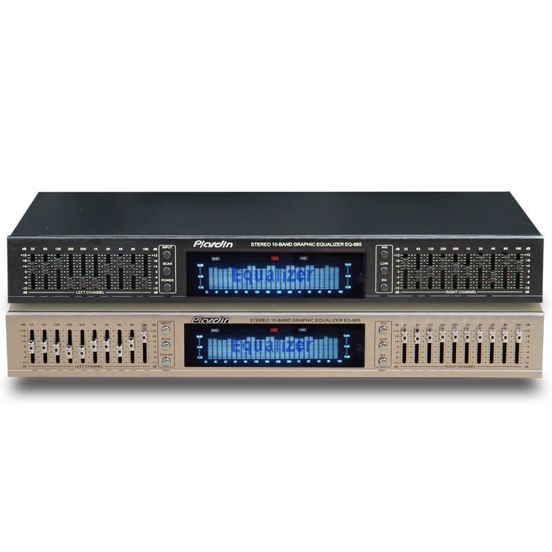 TL EQ665 Equalizer hifi Fever Home EQ Equalizer Dual 10 BAND Stereo Treble Alto bass adjustment