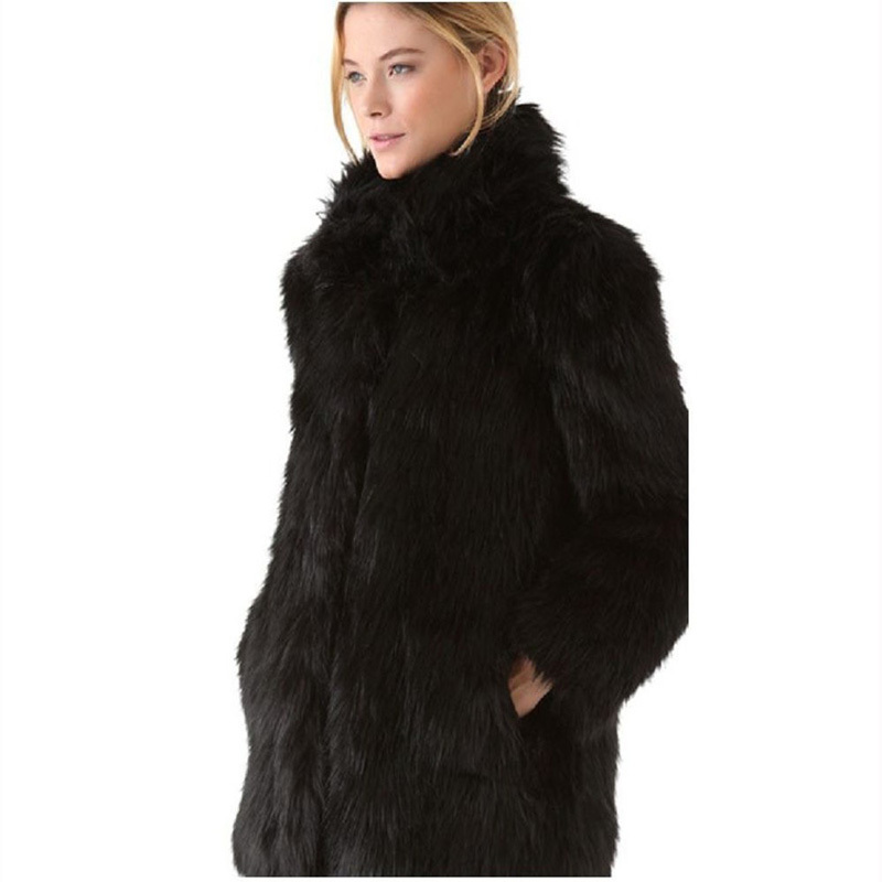 Aliexpress.com : Buy White/Black Faux Fur Coat Women Winter Coat ...