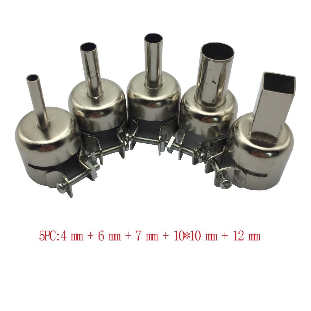 5pcs/9pcs Hot Air Gun Nozzle Universal Gun Nozzle For 850 852D 898 858 Soldering Station Attachments