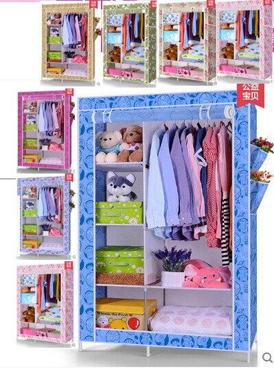 Портативная раскладной одежда платяной шкаф чулан вешалки для дома мебель HS-12