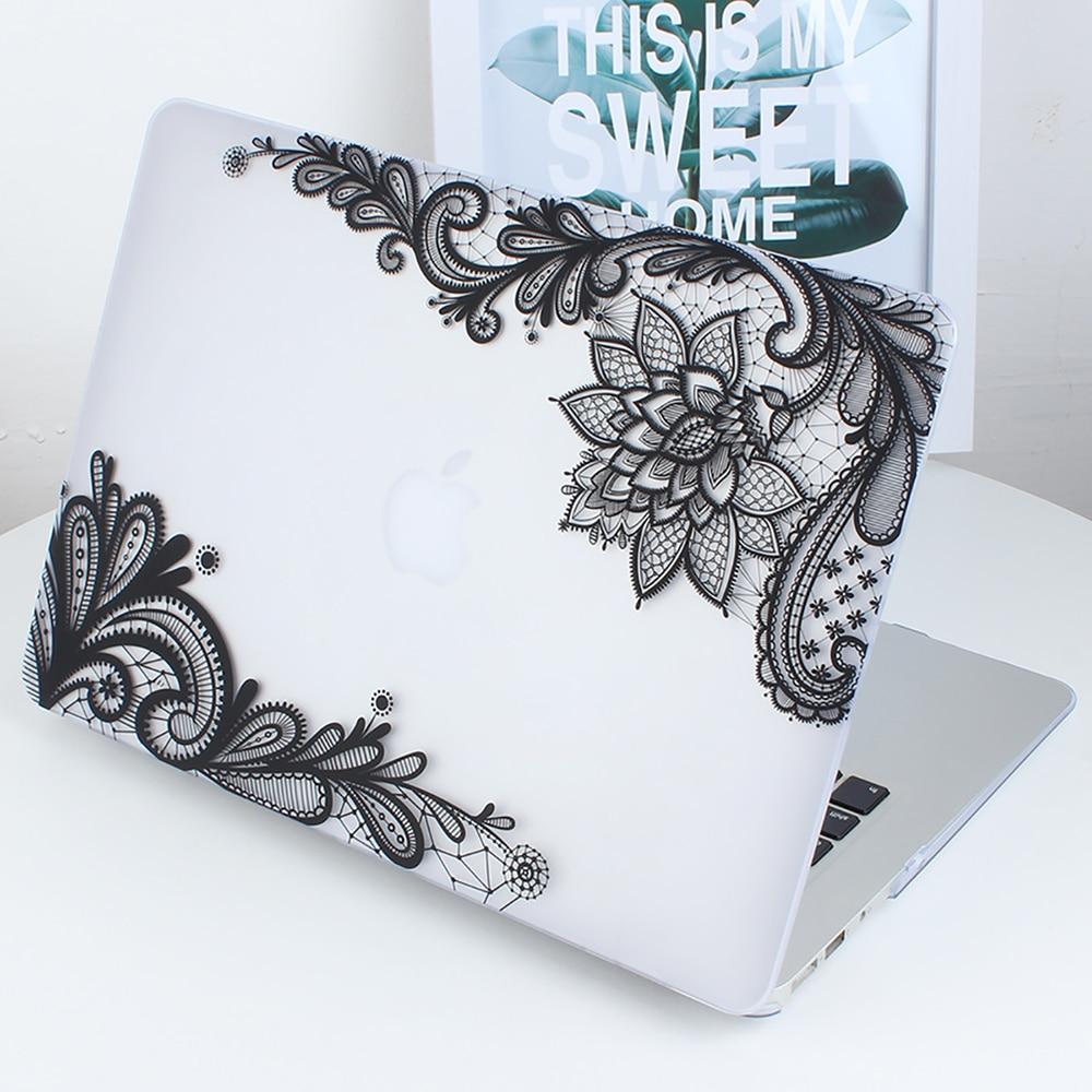Nowa moda dla dziewczyn Matte Lace Hard Case Cover do Macbook Air 13 - Akcesoria do laptopów - Zdjęcie 3