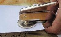 Portable Metal Embossing Stamp Custom Wedding Table Pliers Seal Custom Logo Stamp Paper