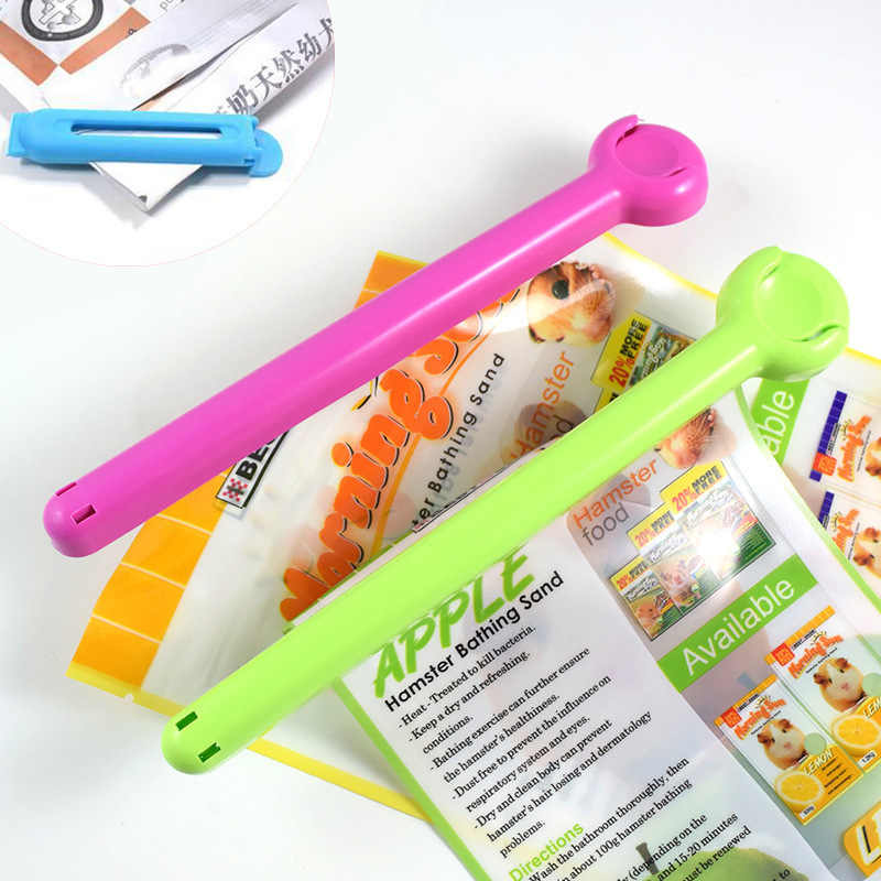 2pc/set Pet supplies sealing clips Portable dog cat Food Snack Storage Seal Sealing Bag Clip Sealer Clamp Plastic Kitchen Tool