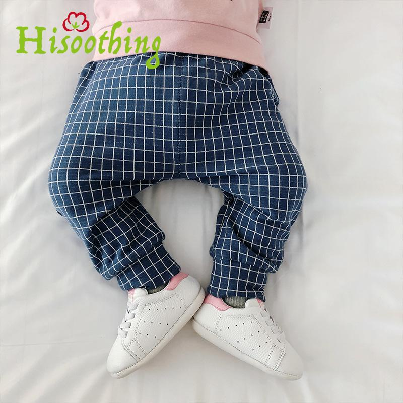все цены на 2018 Spring Children's Clothes, Baby Plaid Pants Baby Casual Pants Boy Cartoon Big Pp Pants