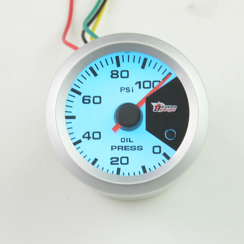 52MM 7 Color backlight Auto Car Oil Pressure gauge Meter Gauge with ...