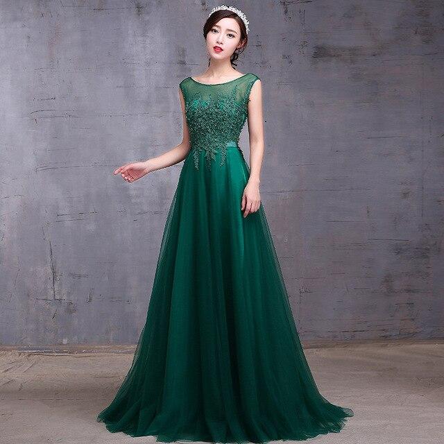Nuevo Verde de Encaje Vestidos Largos de la Nueva Llegada Nueva Banquete Elegante Backless Vestido de fiesta Más El Tamaño de la Madre de La Novia Vestido de La Madre Dre