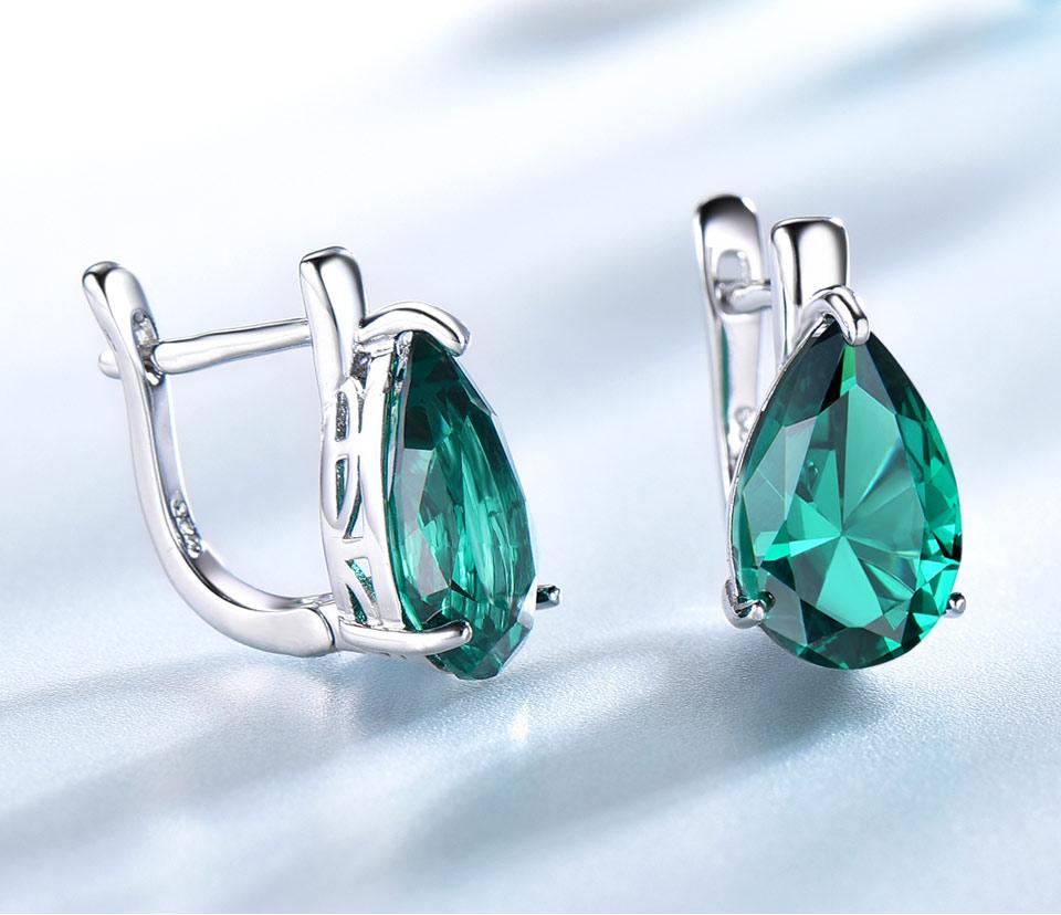 UMCHO-Emerald-925-sterling-silver-clip-earrings-for-women-EUJ086E-1-PC_04