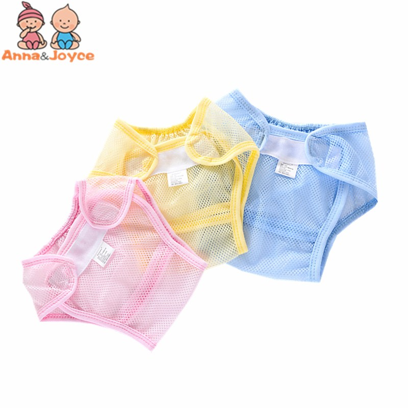 30Pc lot Summer Baby Mesh Cloth Diaper Pants Baby Diapers Can Be Washed Pants Newborn Ultra