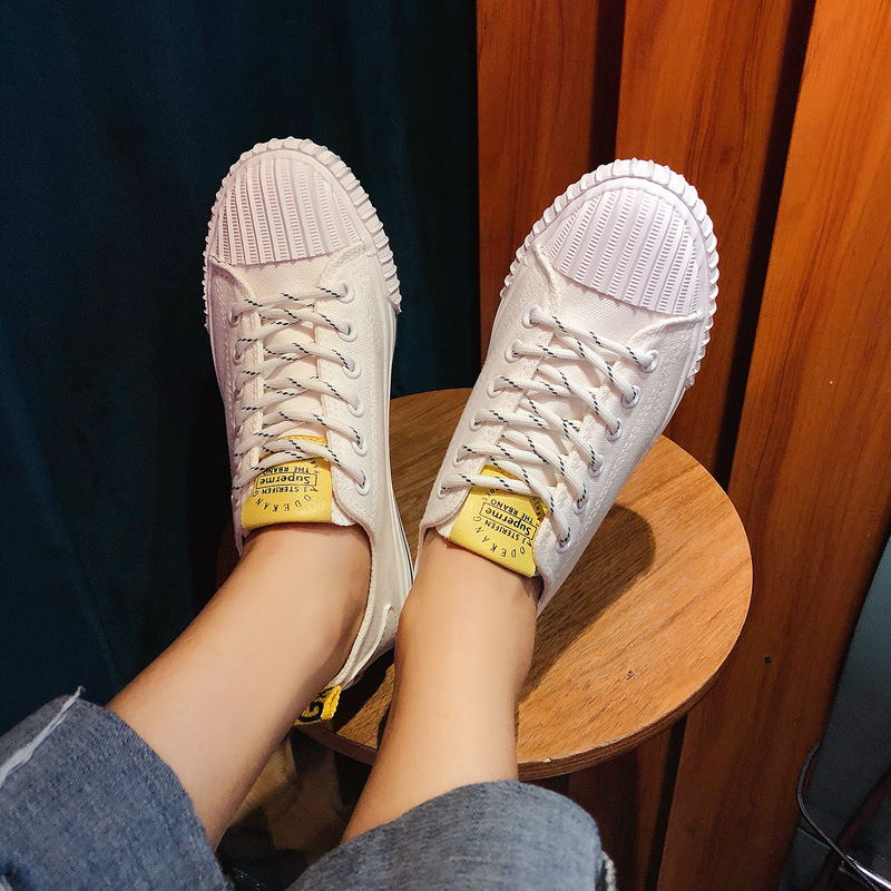 LAISUMK Women Spring Autumn Shoes 2019 Fshion Sneakers Solid Sewing Adult Canvas Shoes Woman Fabric Sapato Feminino Size 35 40 in Women 39 s Flats from Shoes