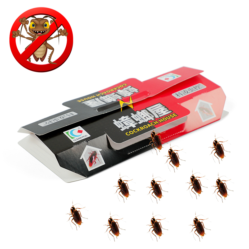 10Pcs Cockroach Pitfall House Cockroach Trap Insect Repellent Killing Bait Black Beetle Room Strong Sticky Catcher Pest Repeller