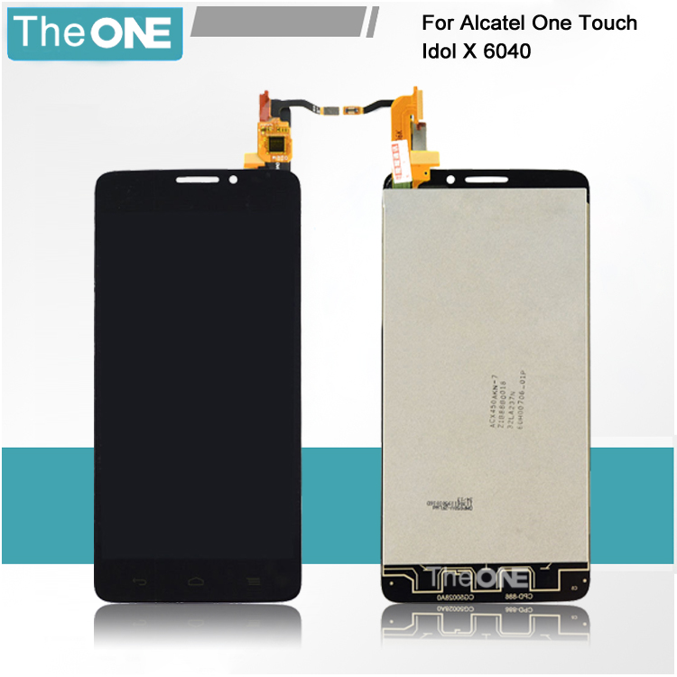 LCD Display Digitizer touch Screen For Alcatel One Touch Idol X OT6040 6040 6040D 6040E 6040A OT-6040D Assemblely