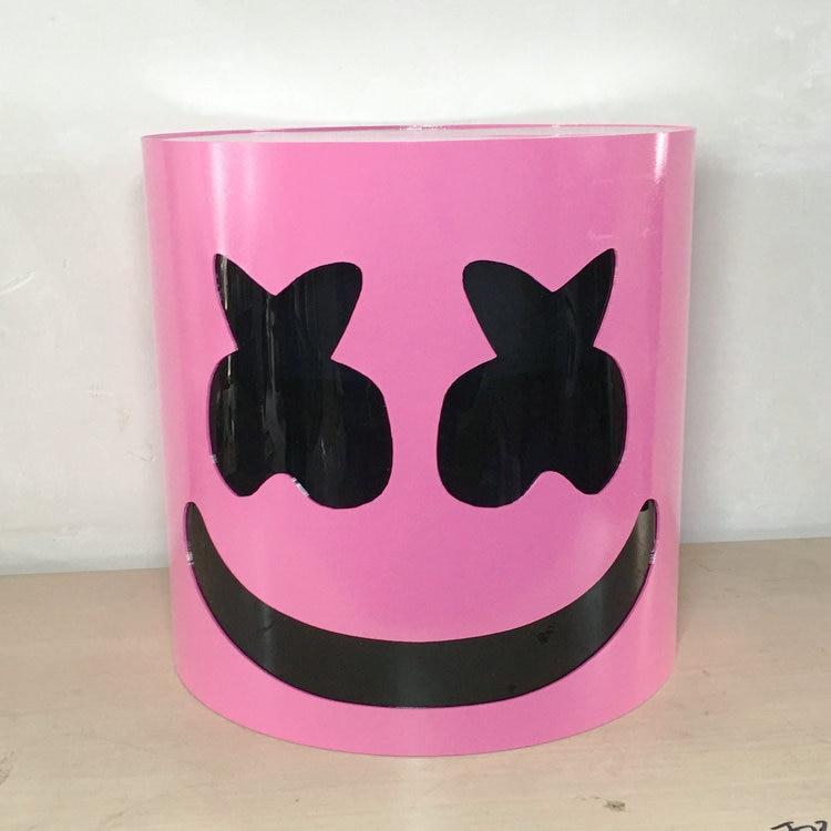 HARD PLASTIC Acrylic  pink Marshmello Helmet DJ Marshmello Mask Concert Props Future Bass Marshmello Prop Bars