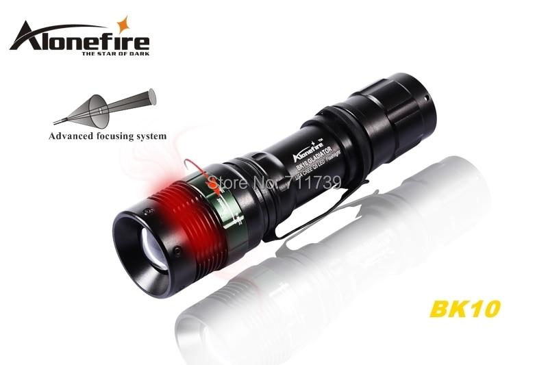 ALONEFIRE BK10 CREE XPE Q5 LED 268 Lumens Portable Zoomables lampe de Poche lampe Torche lumière Pour 1x18650 batterie rechargeable ou 3 piles aaa