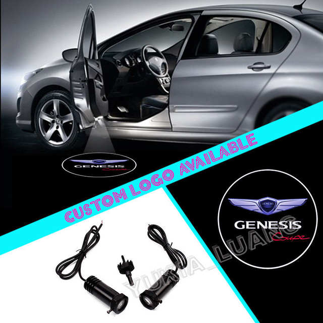 Genesis Car Logo >> Us 18 88 2x For Genesis Coupe Logo Car Door Courtesy Laser Projector Led Lights In Car Light Assembly From Automobiles Motorcycles On