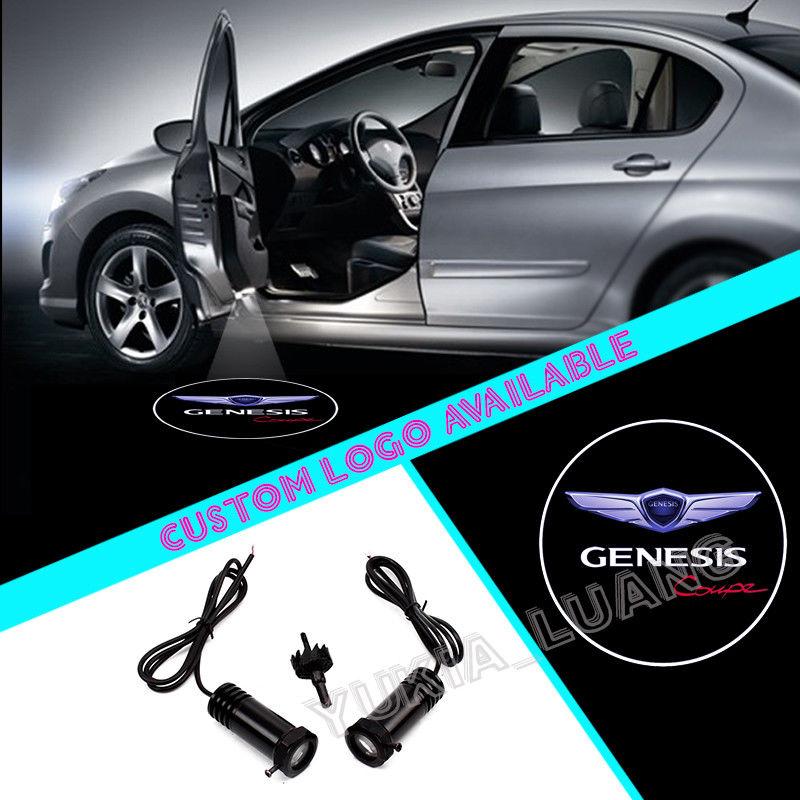 2x For Genesis Coupe Logo Car Door Courtesy Laser Projector LED Lights