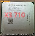 AMD Phenom II X3 710 2.6GHz Socket AM3 938-pin Processor 95W Triple-Core 1.5M Desktop CPU (working 100% Free Shipping)