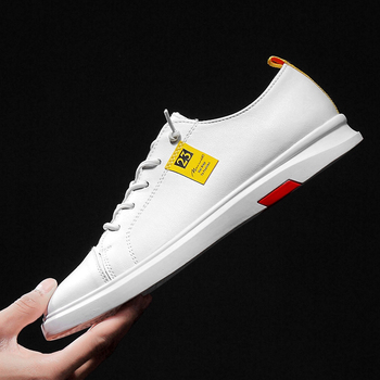 Fashion Sneakers Genuine Leather Casual Shoes Men Breathable Classic Black White Male Krasovki Spring Summer C4