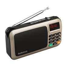 Rolton W505 de mini subwoofer estéreo portátil reproductor de MP3 tarjeta de radio DEL TF/FM con luz LED y la lámpara ultravioleta
