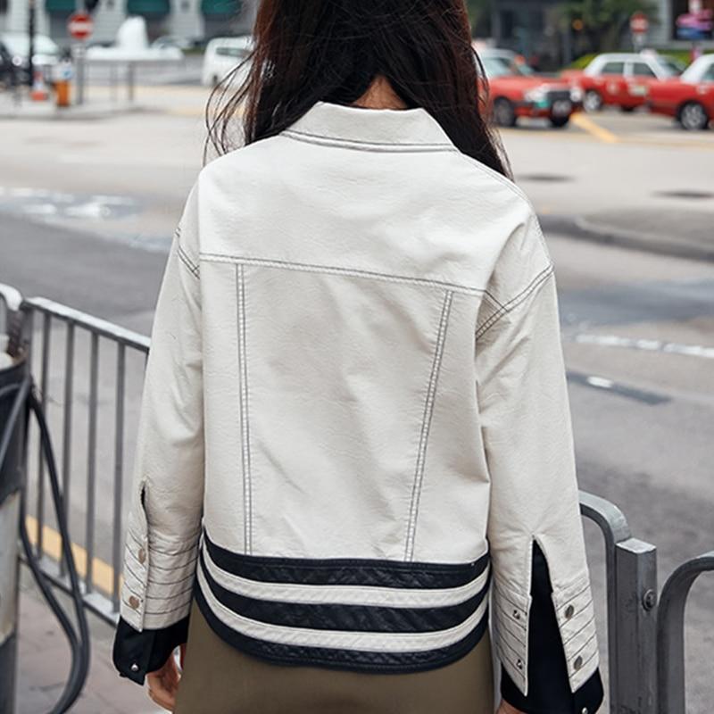 Haute Pu Court Rayé Poches Unique Poitrine Casual Ivory Qualité Vintage Automne Manteaux Lâche Vestes Jq349 Nouveau Mode Famela Hiver nWqIxfXx6