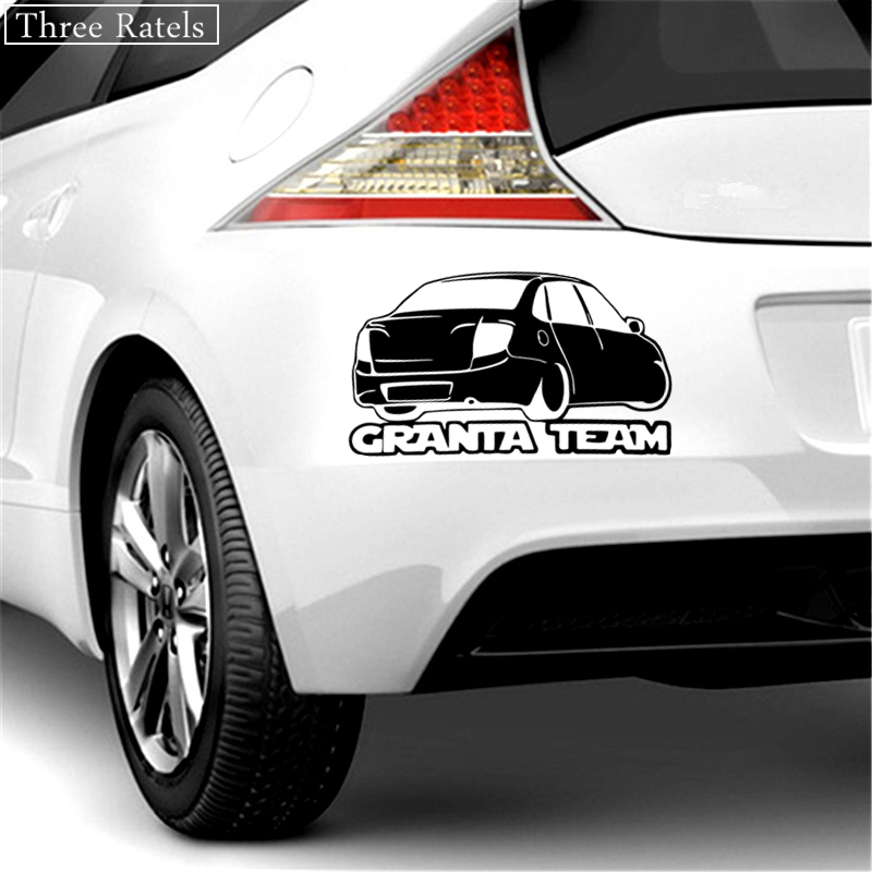 Three Ratels TZ 510 12 9 20cm 1 5 pieces GRANTA TEAM car sticker and decals funny stickers in Car Stickers from Automobiles Motorcycles