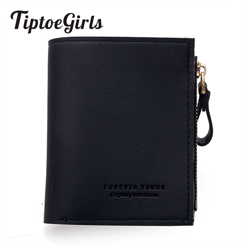 Short Wallet Female 2018 Korean Version of the New Fashion Personality Zipper Buckle Card Bit Coin Pocket Small Fresh Wallet