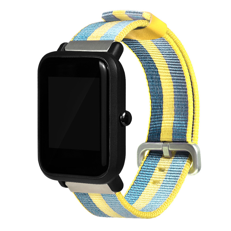 20mm Nylon General Wrist Watch Band Strap Bracelet Belt For Xiaomi for Huami Amazfit Bip Youth for Garmin vivoactive3 in Smart Accessories from Consumer Electronics