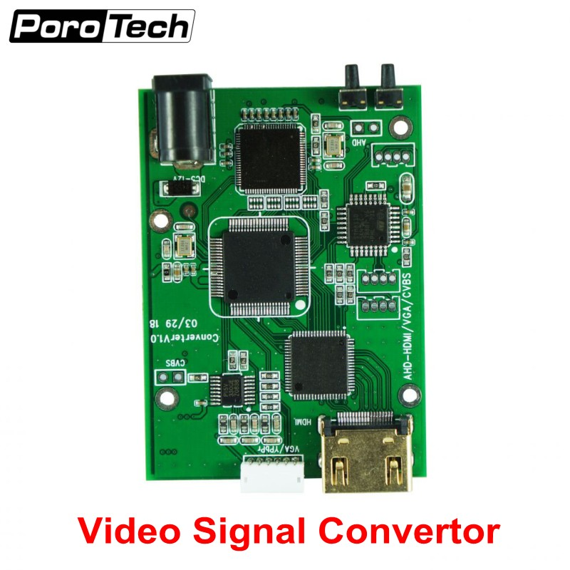 Factory Direct AHD41 4-in-1 HD Video Signal Convertor Board AHD TVI CVI CVBS Signal To HDMI VGA CVBS Signal Convertor Board