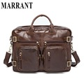 Genuine Leather Men Bag Men's Business Briefcase 14inch Leather Laptop Bag Male men travel Handbag Tote Shoulder crossbady Bags