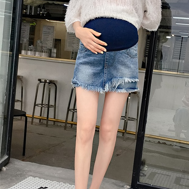 Pregnant women denim shorts 2019 new summer fashion Korean version of the loose straight pregnancy maternity pantsPregnant women denim shorts 2019 new summer fashion Korean version of the loose straight pregnancy maternity pants