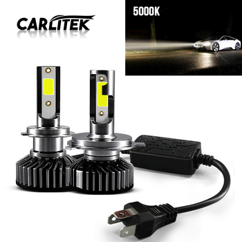 CARLitek 5000K Fog Lamp H7 H4 H11 9005 9006 H9 H8 12v Led Car Headlight 10000LM Auto Bulb COB Mini Head Light bombilla led image
